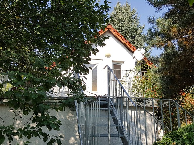 Detached house on a completely fenced parcel near the Spree, holiday rental in Unterspreewald