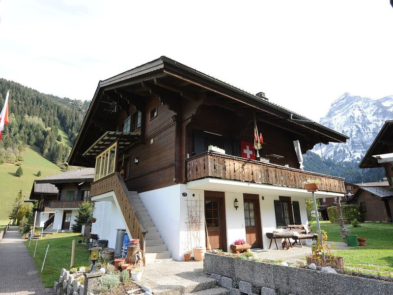 Well kept apartment at the ground floor. Nice terrace with grill, great view!, alquiler de vacaciones en Lausana