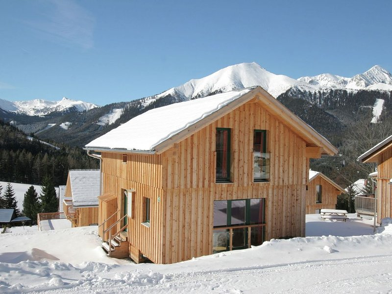 Luxury wooden chalet with wellness, 300m from the lift at 1300m altitude, aluguéis de temporada em Hohentauern