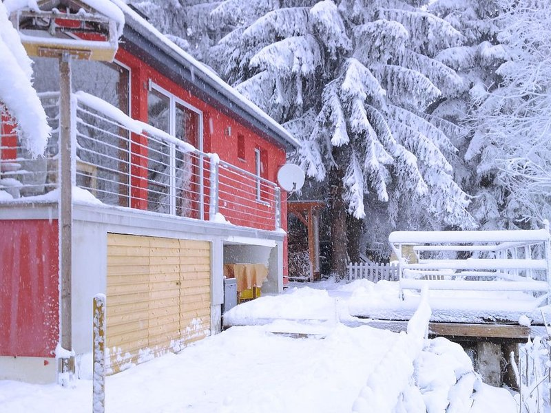 A wonderful holiday home in the Thuringian Forest - woodstove, balcony, patio,, holiday rental in Neustadt am Rennsteig