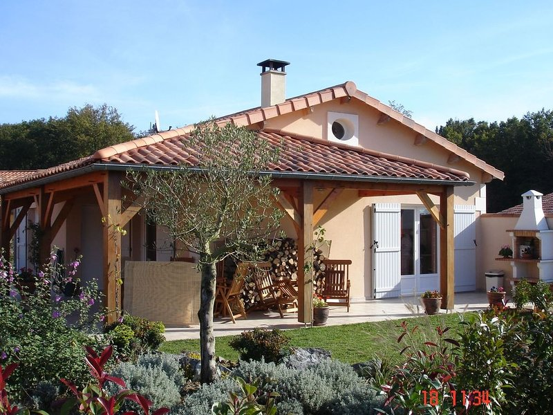 Modern villa with fire place, in the beautyful Loire region, vacation rental in Rouille