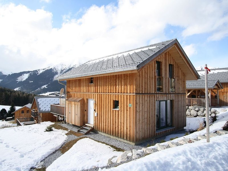 Luxury wooden chalet with wellness centre 300m from the lift and at an altitude, aluguéis de temporada em Hohentauern