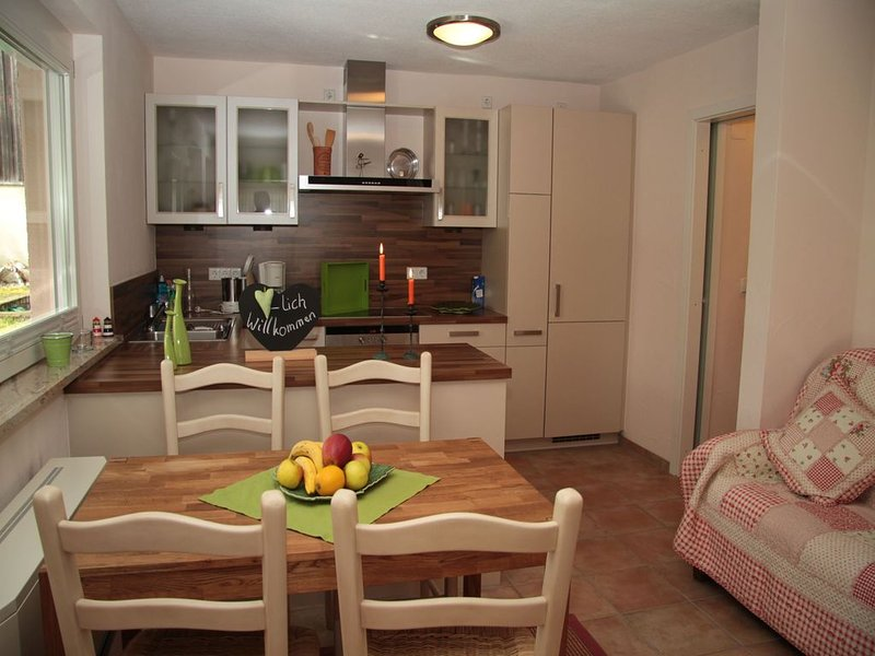 Apartment with 70sqm, 2 bedrooms for max. 4 person dining area overlooking the kitchen