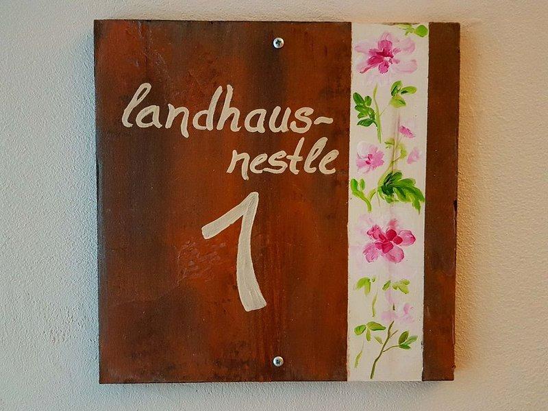 Apartment, Landhaus-Nestle 1, 57 qm, 1 bedroom, 1 living / bedroom, terrace, max. 3 People Villa Nestle 1
