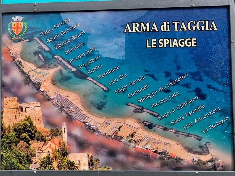 Här är de gyllene och privata stränderna i Arma di Taggia