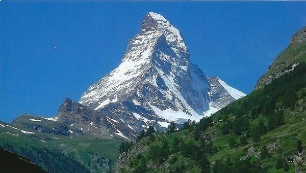 Freie Sicht aufs Matterhorn