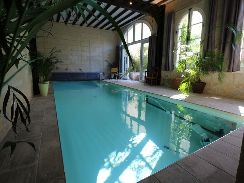 350 M2/MAISON  HISTORIQUE avec piscine intérieure chauffée dans le vieux Saumur, holiday rental in Allonnes