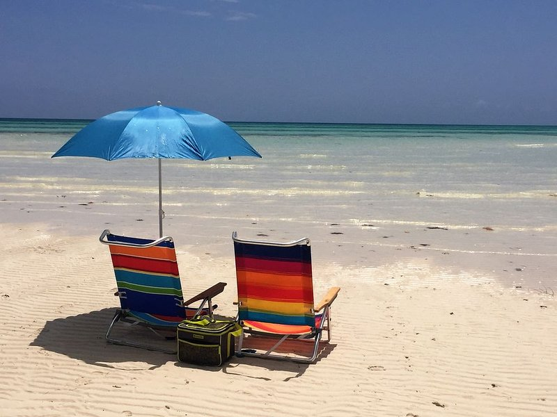 Beachfront condo directly on Grand Bahama's beautiful Coral Beach, aluguéis de temporada em Freeport