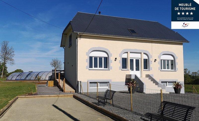 Villa Familiale de l'Hôtel Godefroy classée ****, alquiler vacacional en La Lande-d'Airou