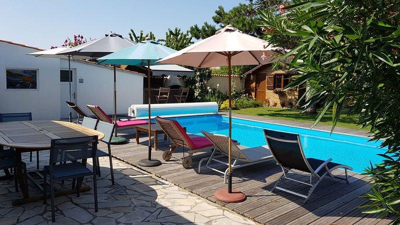 LA VILLA DOUCE*** 3 étoiles- Piscine chauffée- sauna - hammam - Douche multijets, location de vacances à Sainte-Soulle