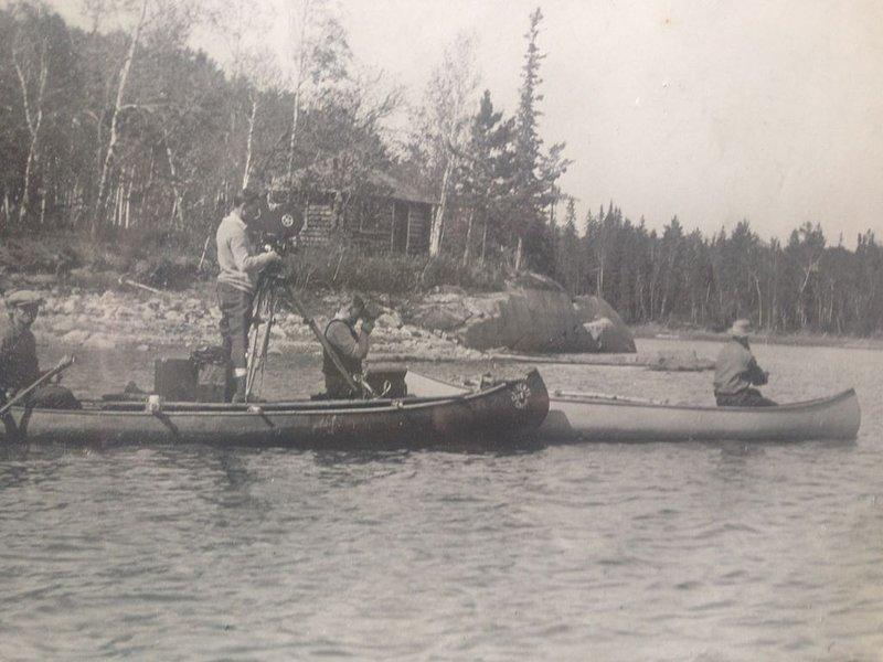 El espectáculo de pesca original ... Abuelo circa 1920