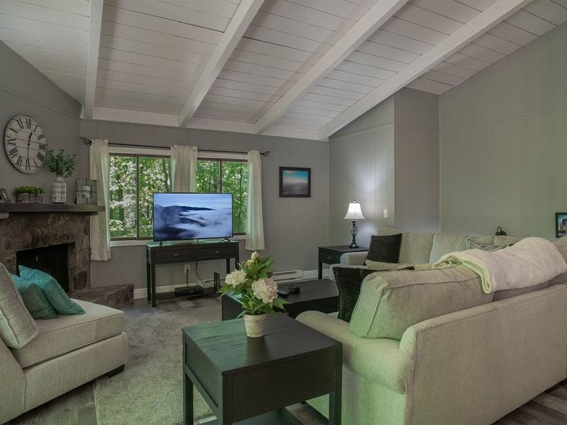 Relax in Style, all new furniture, walk to clubhouse, big deck, holiday rental in Rosman