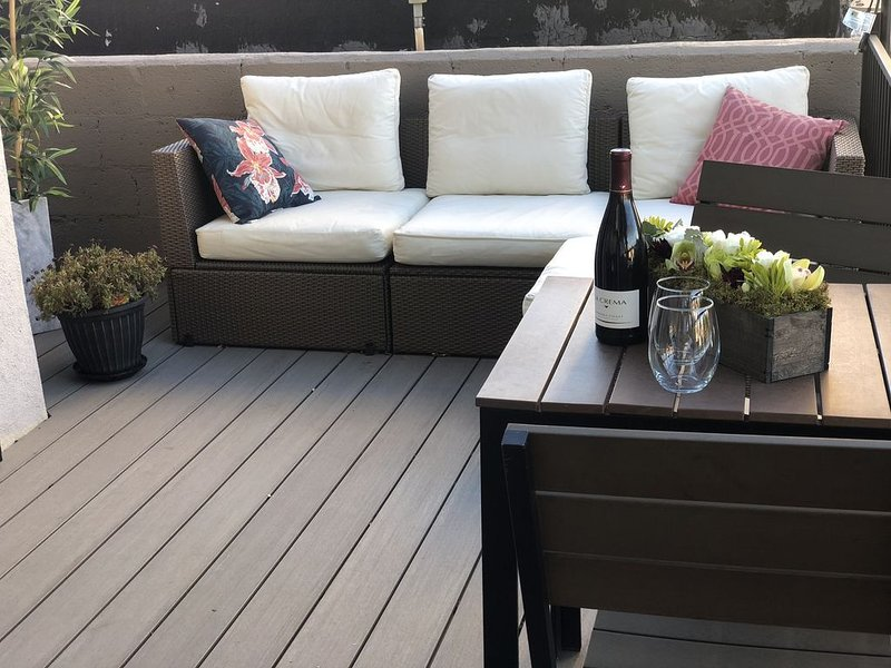 Enjoy Colorado evenings outside on our patio