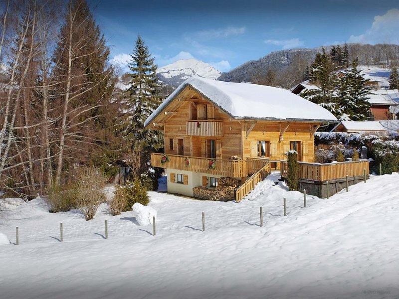 Chalet 4 Etoiles pour 8. Terrasse avec jacuzzi et piscine. - OVO Network, vacation rental in Les Villards-sur-Thones