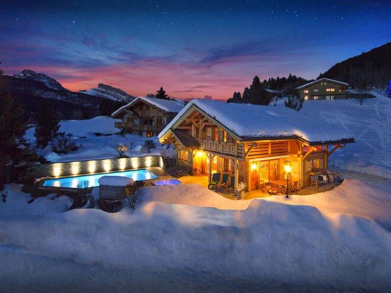 5* piscine ext. chauffée toute l'année, jacuzzi, sauna, WiFi - OVO Network, holiday rental in Saint-Jean-de-Sixt