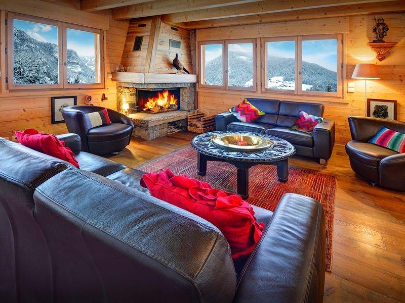 Chalet 5 étoiles, luxe & élégance, situation au calme, wifi - OVO Network, holiday rental in Saint-Jean-de-Sixt