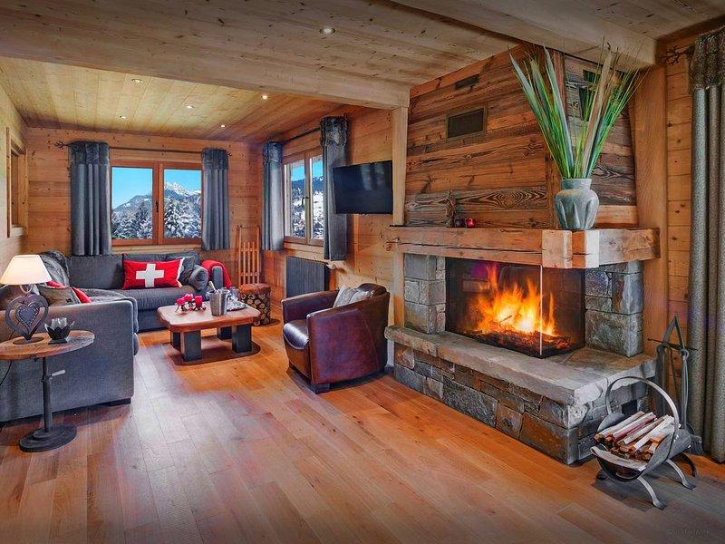 5 étoiles au pied des pistes, jacuzzi, vue magnifique, wifi - OVO Network, holiday rental in La Clusaz