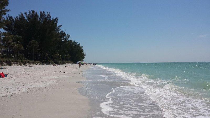 Our beautiful beach! We have beach chairs, beach umbrellas, and beach towels too!