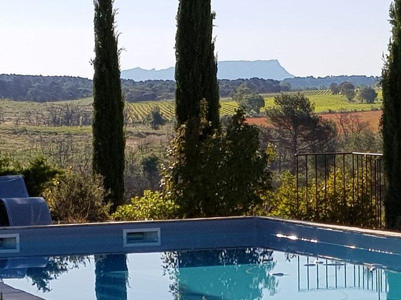 Promotion WK Pentecôte 200e la nuité LA VILLA  domaine viticole  Bio à 10'AIX, holiday rental in Coudoux