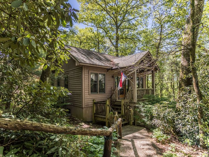 Altitudes Attitude - Upscale Cabin with Hot Tub, 3 Minutes to Downtown Blowing R, alquiler vacacional en Blowing Rock