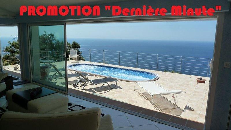 LE COIN DE PARADIS, Villa luxueuse  vue mer paradisiaque  TARIFS DERNIERE MINUTE, vacation rental in Agay