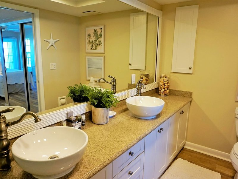Upgraded Bathroom with 2 Sinks