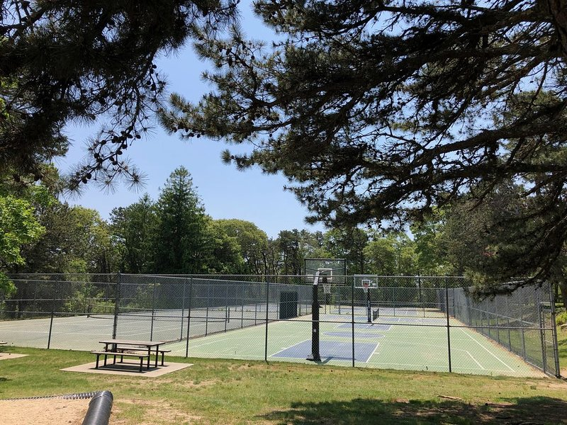 Walk to three tennis courts and basketball court located at the playground.