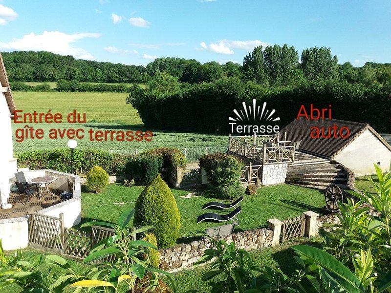 Gîte dans le Perche,avec jardin ,Le Pierra, holiday rental in Saint-Germain-des-Grois