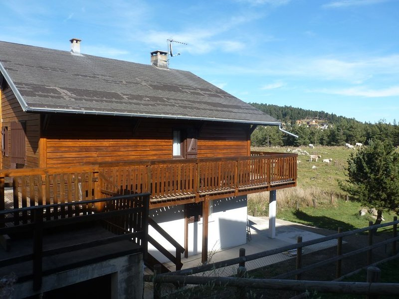 Pyrénées 2000 très beau F3 dans chalet pied des pistes, casa vacanza a Bolquere