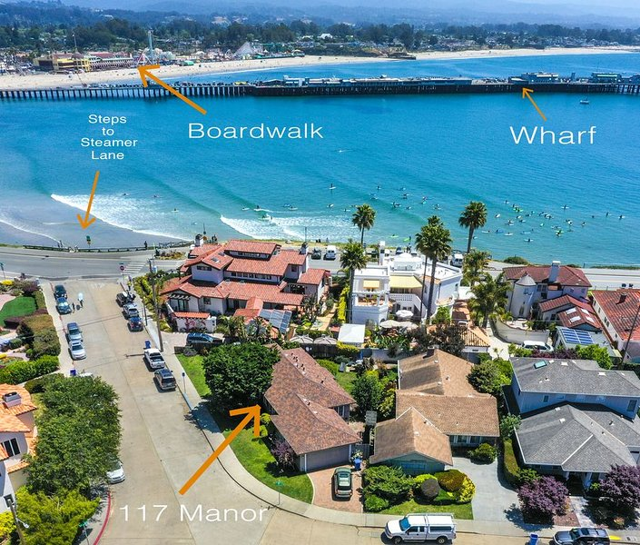 Family Fun with Old World Charm in a Five Star Location, vacation rental in Santa Cruz