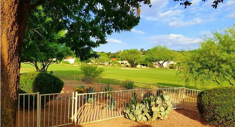 Relax on the back patio and enjoy the beautiful golf course view!