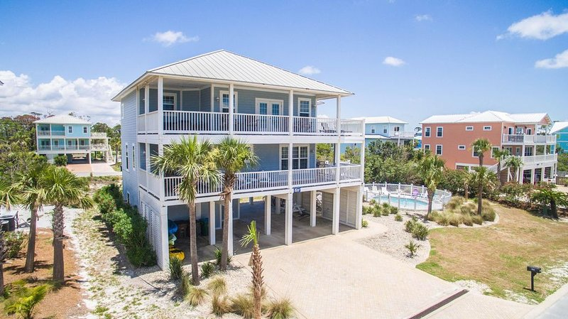 Private Pool, Gulf Views, Steps to Beach, Pets Ok, Large Porches, alquiler de vacaciones en Cape San Blas