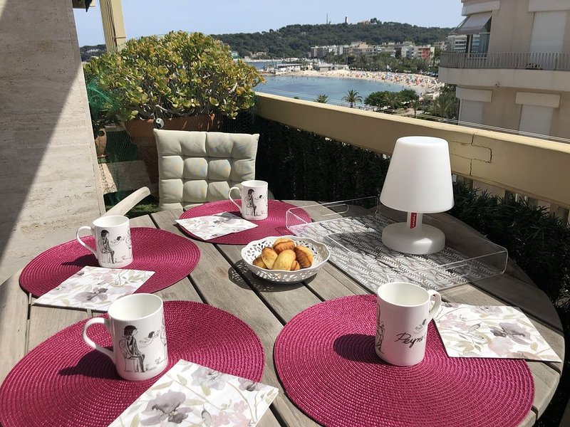 Elégant appartement avec très belle vue mer et plage, holiday rental in Antibes
