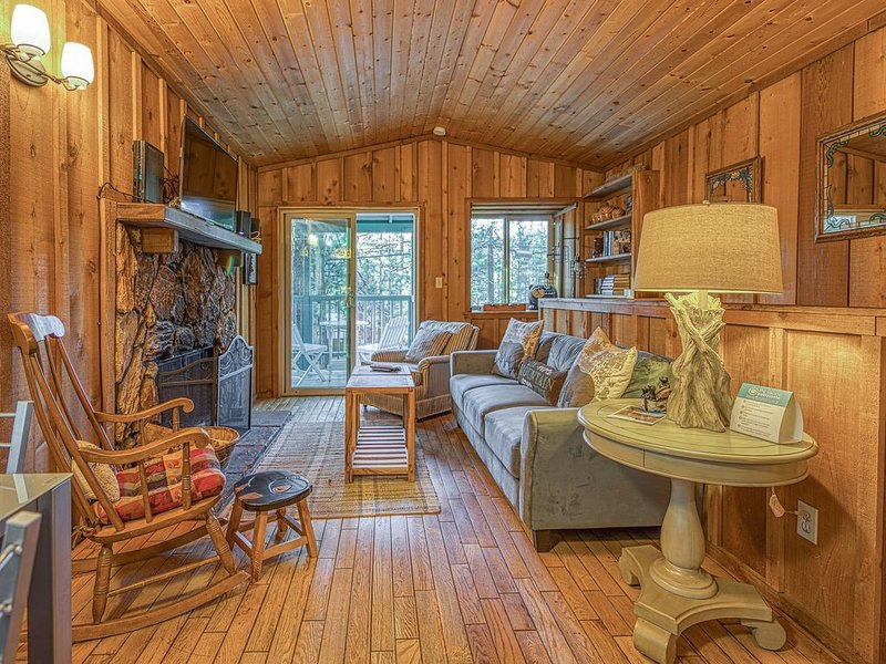 Cozy dog-friendly cabin near shops, restaurants, lake & skiing, vacation rental in Big Bear City