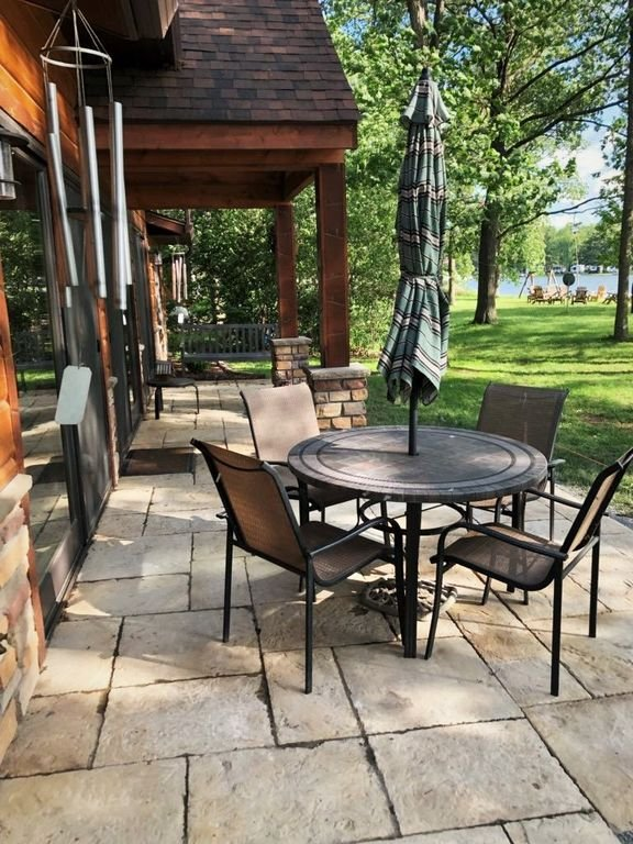 Hang out on the patio overlooking the lake!