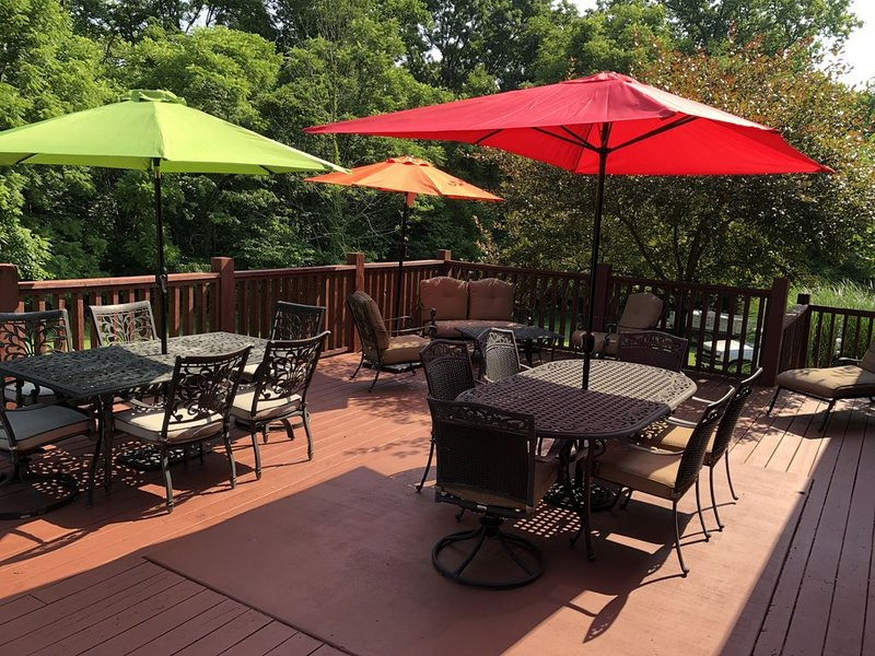 *Overlook, Spacious Rustic Hideout + Large Deck for Entertaining Friends & Fam, holiday rental in Smithville