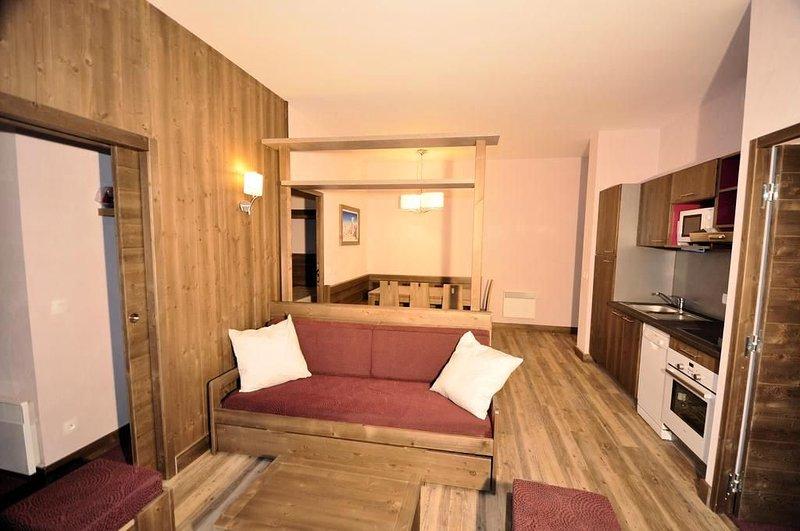 Résidence Deneb **** - 3 pièces Cabine 6/7 personnes, vacation rental in Risoul