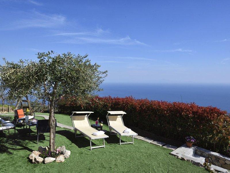 Coast'Amalfi 'The Rose Garden'. Wonderful Sea View Parking Garden!, vacation rental in Vettica