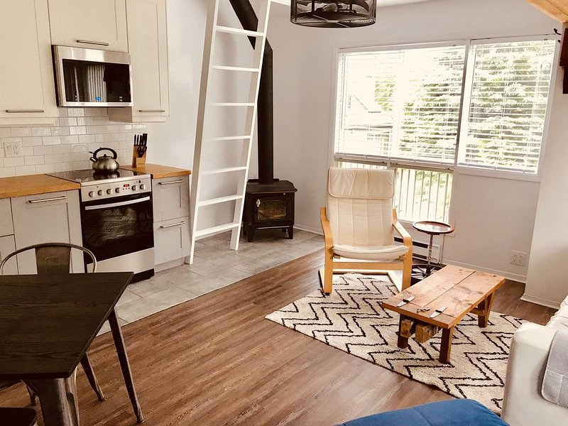 Mont Tremblant 1 Bdrm ski in/out, wifi, parking & directly across from gondola, vacation rental in Mont Tremblant