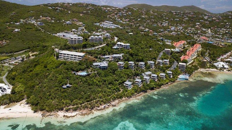 Wunderschönes Resort in Hanglage.