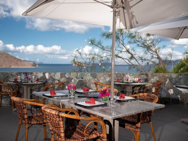 Enjoy dining on the terrace at Mirador.