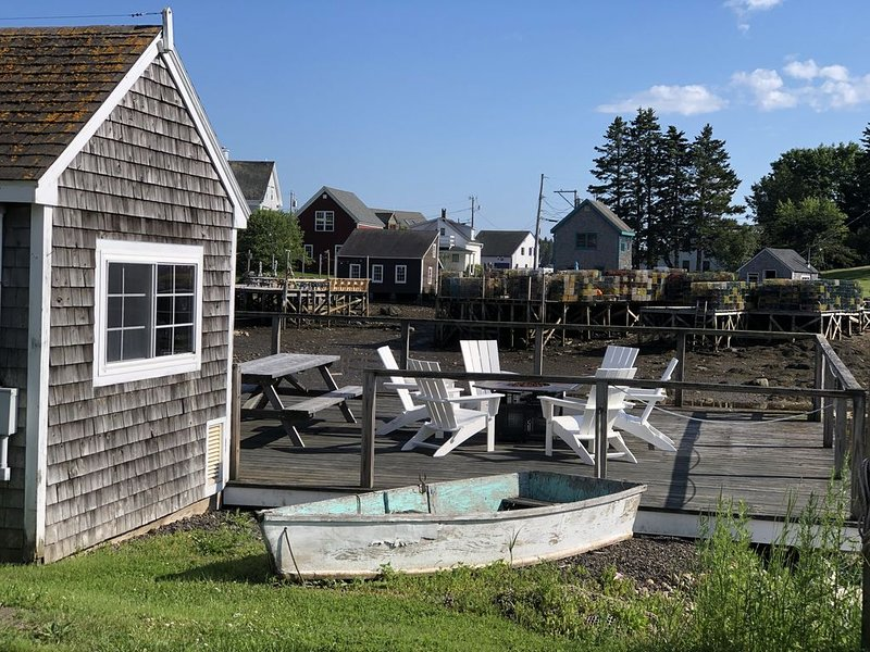 Enjoy a picnic or roasting marshmallows on the dock