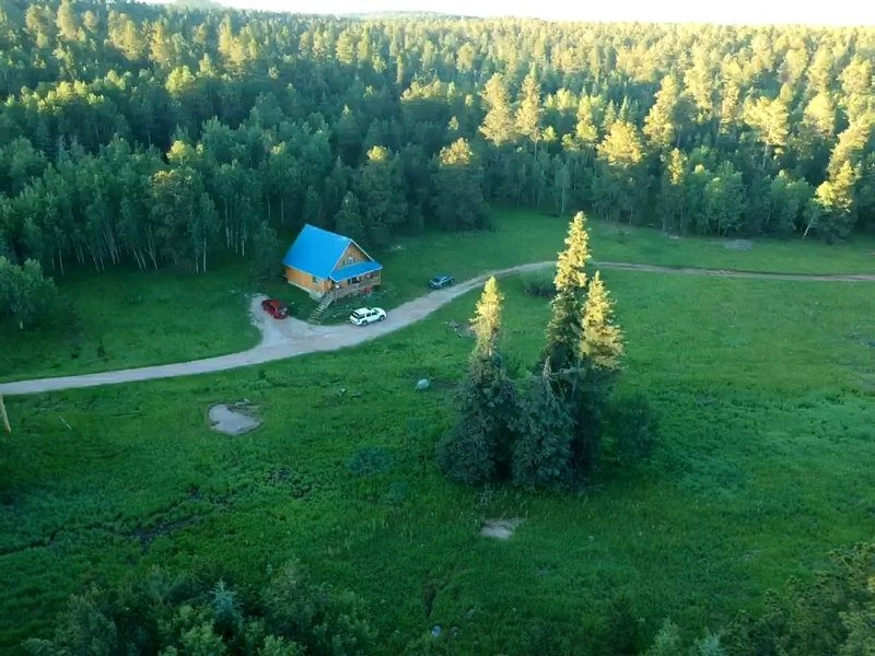 Quiet and Comfortable  nestled on 8 acres of private property, holiday rental in Lead