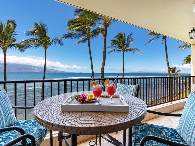 Maui Breathtaking Prime Oceanfront View Split System A/C *Lauloa 309*, holiday rental in Maalaea