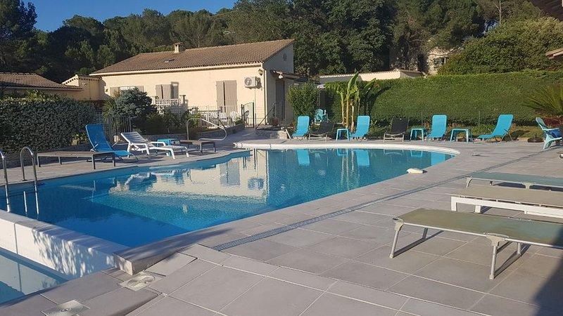 Belle Villa provençale rénovée  St Paulet de Caisson Gard, holiday rental in Saint-Julien-de-Peyrolas