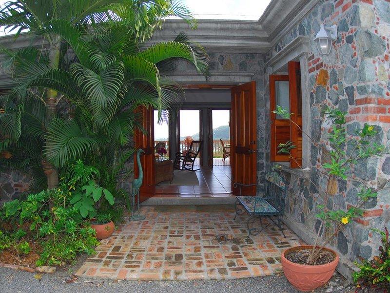 Welcome to La Bella Villa, made of beautiful island stone and mahogany wood!
