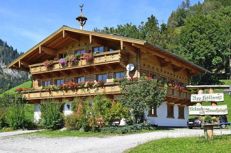 Haus Höllwart , Goldegg am See, vacation rental in Dienten am Hochkönig