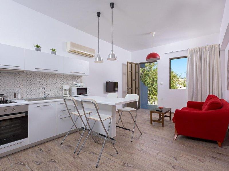 'Rodania Spring' Two bedroom apt with private backyard, location de vacances à Ladiko
