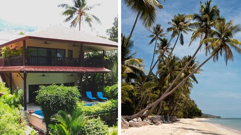 Beach front Resort - Villa With Private Pool At 40 Meters From The Beach, vakantiewoning in Ang Thong