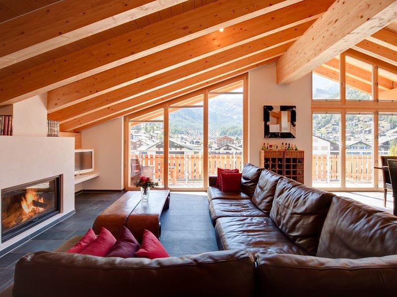 Chalé Zeus Zermatt - Sala de Estar